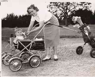 Pic of Jim as a baby on the golf course